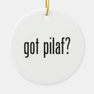 pilaf conseguido adorno navideño redondo de cerámica