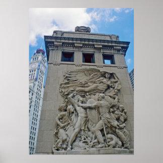 Pilar de la defensa de Chicago Poster