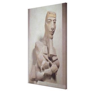 Pilar de Osirid de Akhenaten 1365-1349 A C del Impresión En Lona Estirada