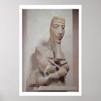 Pilar de Osirid de Akhenaten (1365-1349 A.C.) del Impresiones
