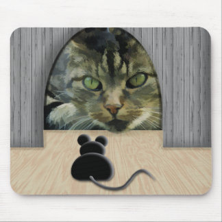 Pilar del gato y del ratón tapete de ratón