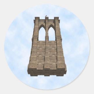 Pilar del puente de Brooklyn: modelo 3D: Pegatina