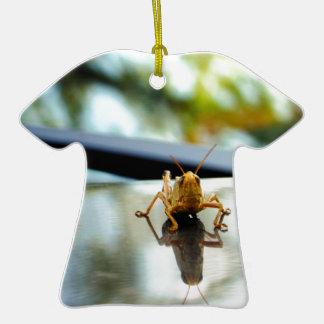 pilar del saltamontes adorno de cerámica en forma de camiseta