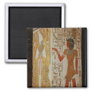Pilar que representa Osiris y llevar del sacerdote Imán Cuadrado