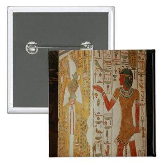 Pilar que representa Osiris y llevar del sacerdote Pin Cuadrada 5 Cm