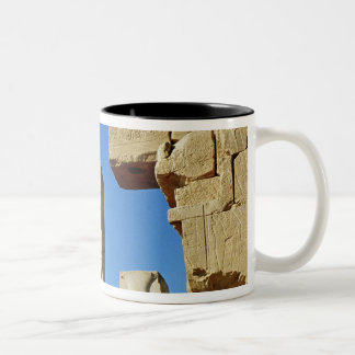 Pilares adornados con loto estilizado taza de café