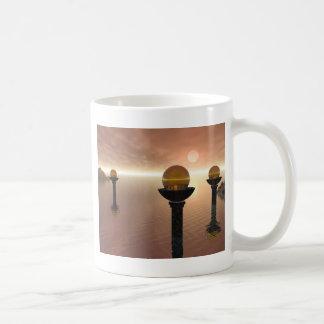 Pilares antiguos tazas de café