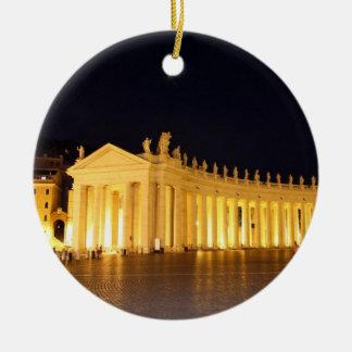 Pilares cuadrados de St Peters por la tarde Ornamentos De Reyes Magos