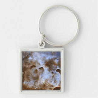 Pilares de Estrella-Formación de la nebulosa de Llavero Cuadrado Plateado