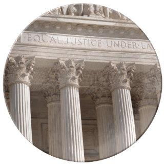 Pilares del Tribunal Supremo de Estados Unidos Platos De Cerámica