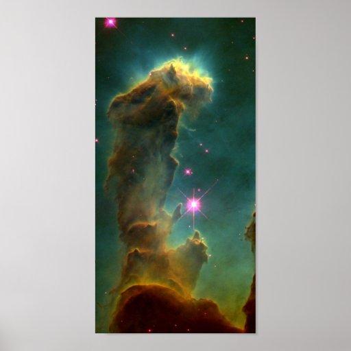 Pilares en la nebulosa de Eagle (M16) - pilares de Posters