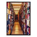Pilas de la biblioteca felicitacion