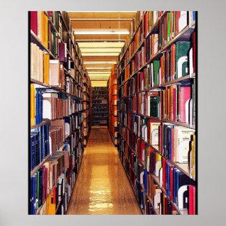Pilas de la biblioteca póster
