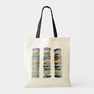 Pilas de la bolsa de asas de los libros