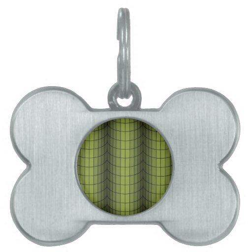 Pilas de verde placas de mascota