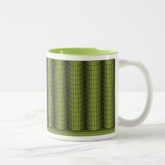 Pilas de verde taza de dos tonos