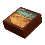 pilas del trigo con el segador de Vincent van Gogh Caja De Joyas