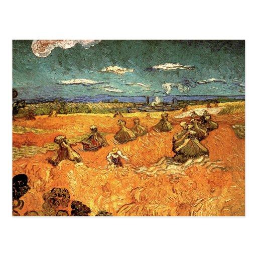 pilas del trigo con el segador postal