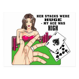 Pilas enormes del póker tarjeta postal