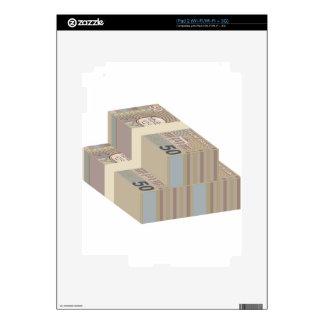 Pilas falsas del dinero calcomanías para iPad 2