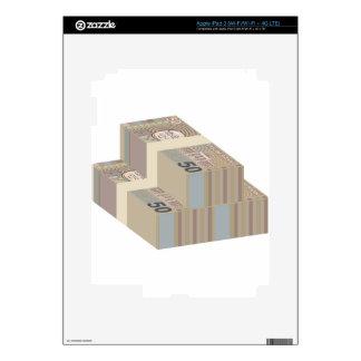 Pilas falsas del dinero iPad 3 skins