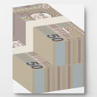 Pilas falsas del dinero placas
