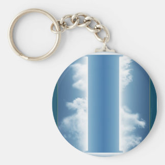 Pilaster of the Peace of I Basic Round Button Keychain