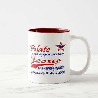 Pilate Jesus Obama 2008 Coffee Mug