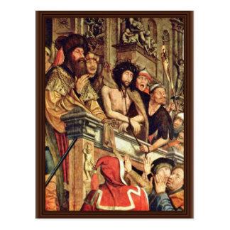 Pilate muestra a Cristo a la gente de Massys Tarjetas Postales