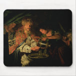 Pilate que se lava las manos (aceite en lona) alfombrillas de ratón