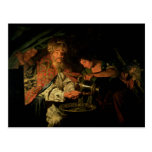 Pilate que se lava las manos (aceite en lona) postales