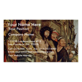 Pilate Shows Christ To The People By Massys Quenti Business Card Templates