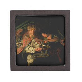 Pilate Washing his Hands (oil on canvas) Jewelry Box