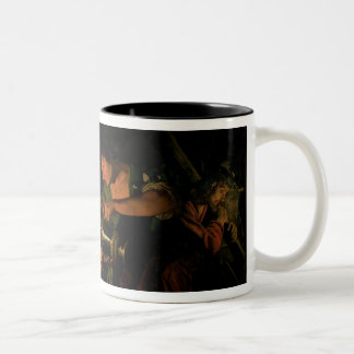 Pilate Washing his Hands (oil on canvas) Two-Tone Coffee Mug