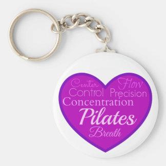 Pilates Basic Round Button Keychain