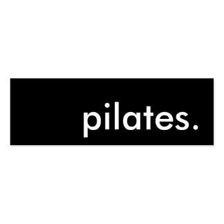 pilates. business cards