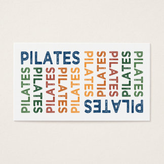 Pilates Cute Colorful Business Card