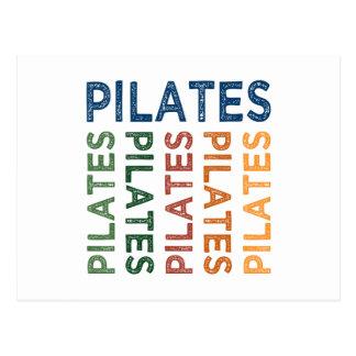 Pilates Cute Colorful Postcard
