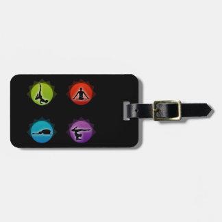 Pilates de la yoga etiqueta para equipaje