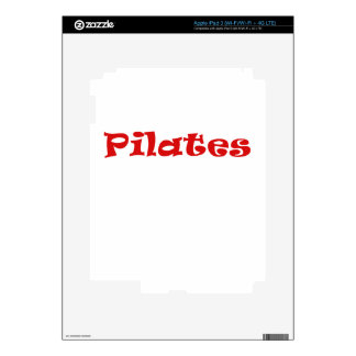 Pilates Decals For iPad 3