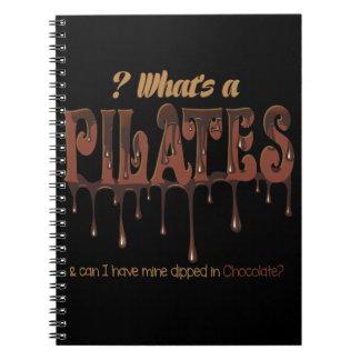 Pilates divertido sumergido en chocolate libro de apuntes