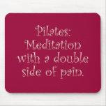 Pilates es apenas meditación con mucho dolor tapetes de raton