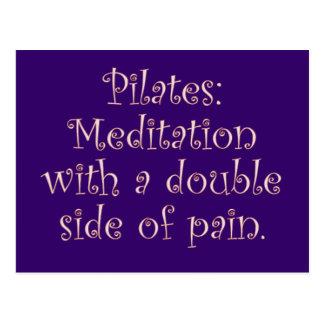 Pilates es apenas meditación con mucho dolor tarjeta postal