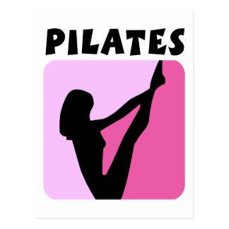 Pilates figure design! postcard