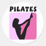 Pilates figure design! round sticker