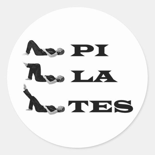Pilates figures! classic round sticker