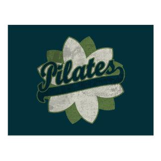 Pilates Flower Postcard