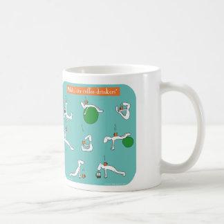 pilates for coffee drinkers classic white coffee mug