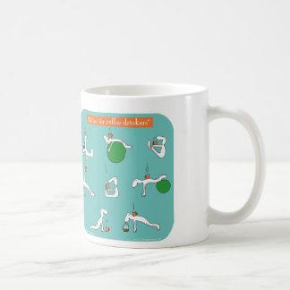 pilates for coffee lovers classic white coffee mug