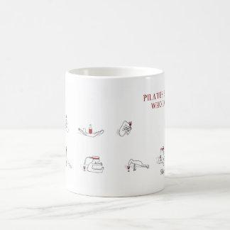 Pilates for people who love wine Harold's Planet Classic White Coffee Mug